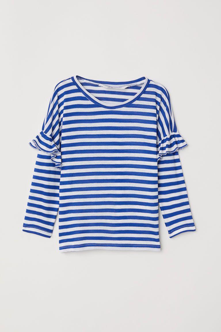 e8333b1af061 Top with Flounces | 19 | Tops, Shirt blouses, Long sleeve tops