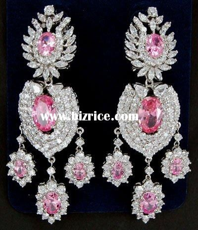 Indian pink crystal chandelier earrings for weddingwholesale indian pink crystal chandelier earrings for weddingwholesale aloadofball Gallery
