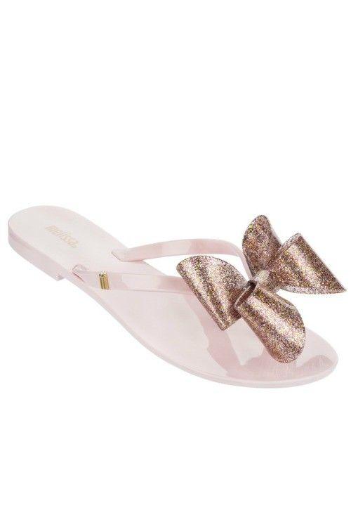 b5929bb14 Mini Melissa Harmonic Bow Pink Flip Flop Sandal in 2019
