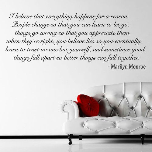 MARILYN MONROE WALL ART STICKER WALL VINYL QUOTE MURAL DECAL I BELIEVE LARGE