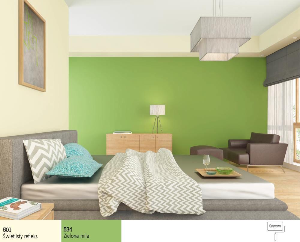 Zielony Kolor Farby Do Sypialni Sypialnia