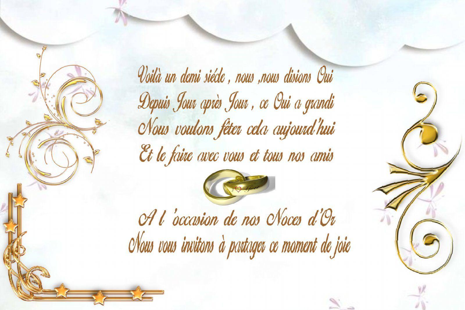 texte damour pour noce dor noces d or