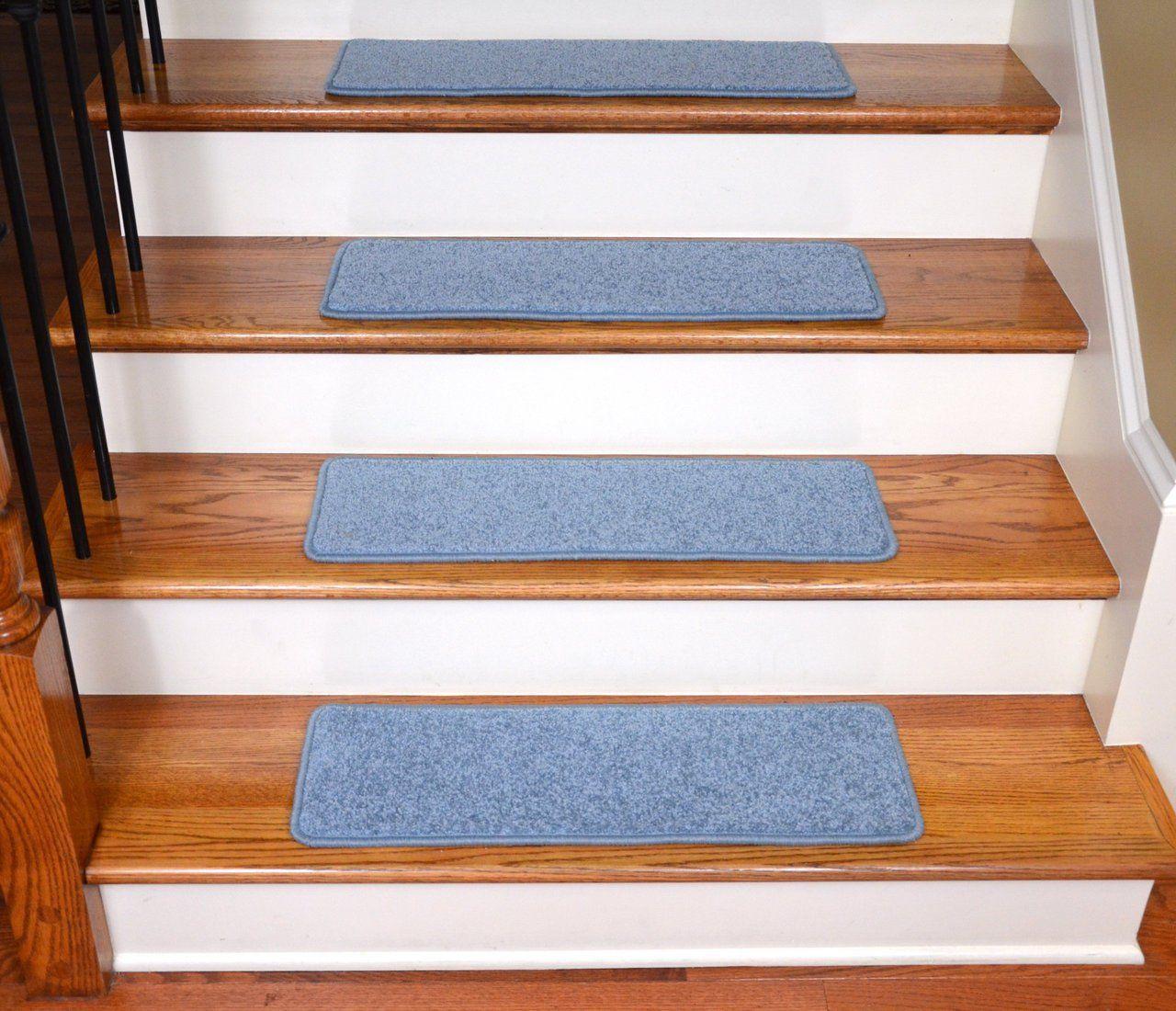 Best Dean Premium Carpet Stair Treads 27 X 9 Sky Blue Plush 640 x 480