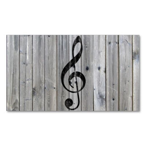 Vintage black music note treble clef gray wood business card vintage black music note treble clef gray wood business card template businesscards http reheart Image collections