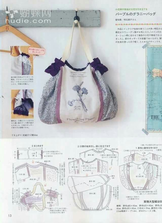 Resultado de imagen para patrones bolsos de tela | Tela | Pouch ...