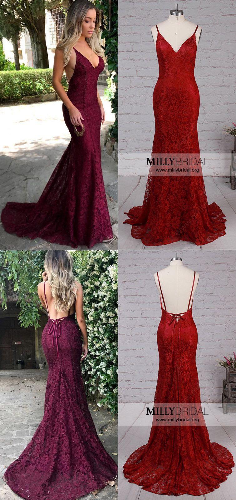 Long prom dresseslace formal dressesvneck evening dresseselegant