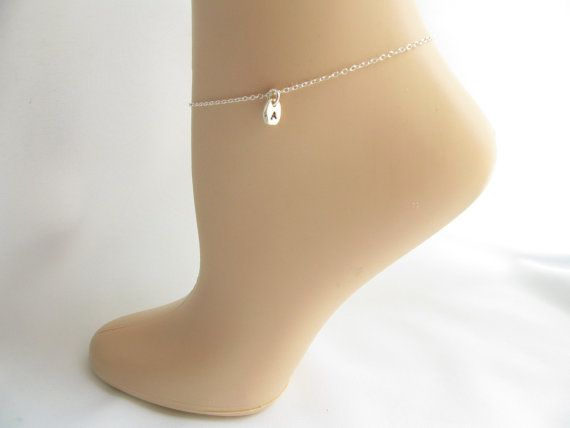Hey, I found this really awesome Etsy listing at https://www.etsy.com/listing/190802886/sterling-silver-anklet-tiny-initial