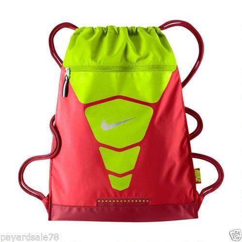 Nike Vapor Gym Sack Back Pack Sports Book Bag Volt Red Backpack Pro Combat Nwt