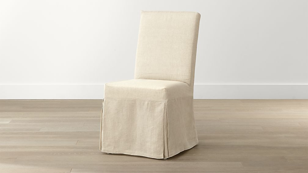 Slip Linen Slipcovered Dining Chair Crate And Barrel Linen Slipcover Dining Chair Dining Chair Slipcovers Slipcovers For Chairs