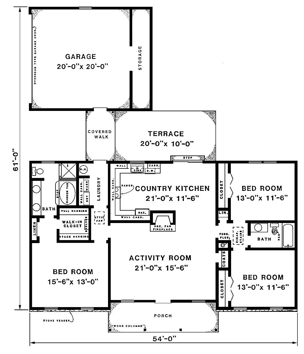 the roswell house plan 3293 3 bedrooms and 2 baths the house