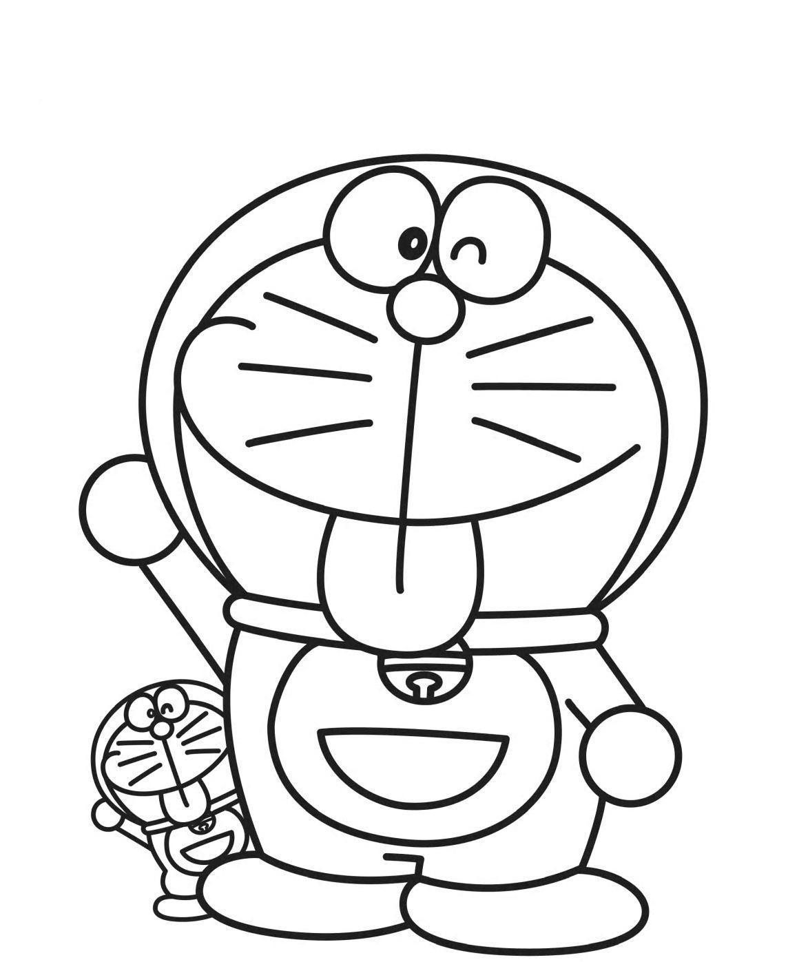 doraemon coloring pages check more at httppilularnetdoraemon - Doraemon Colouring Book