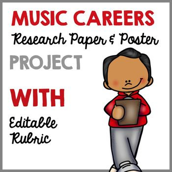 Music Careers Research Paper and Poster Project | Music ...