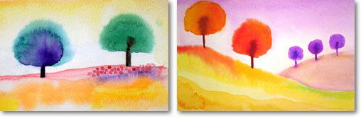Easy Aquarelle Painting Exercise For Kids Homeschool Art