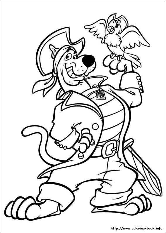 Scooby-Doo Coloring Picture Scooby Doo Coloring Pages, Cartoon Coloring  Pages, Pirate Coloring Pages