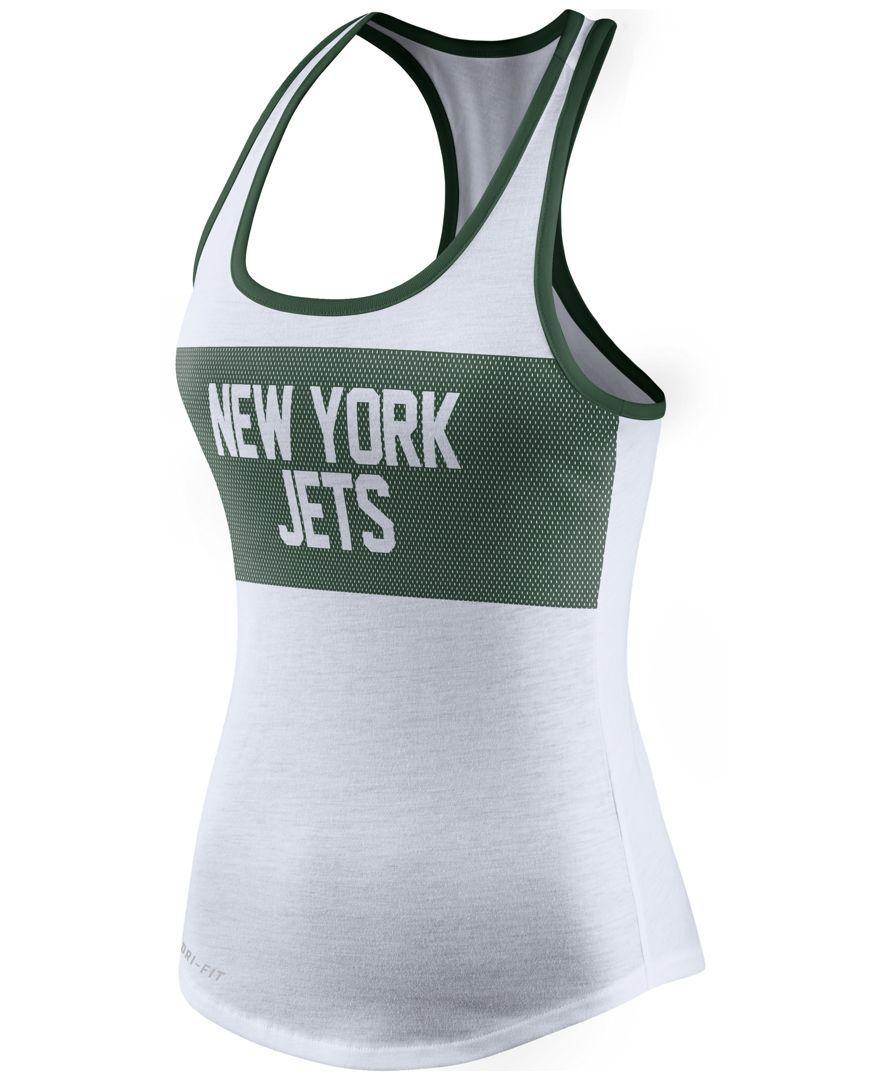 Nike Women s New York Jets Dri-fit Performance Tank Top  41b6fac6b