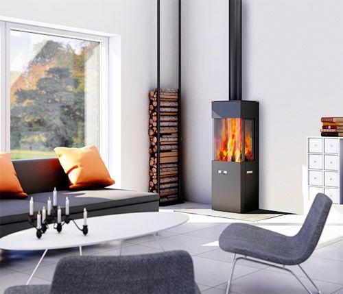 13 ides de poles bois pour votre loft - Idee Deco Poele A Bois