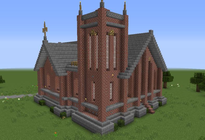 Pin On Minecraft Church