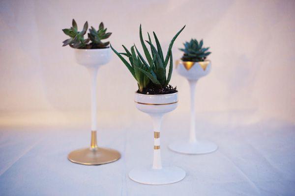 WEDDING DIY Modern botanical DIY succulent centerpiece