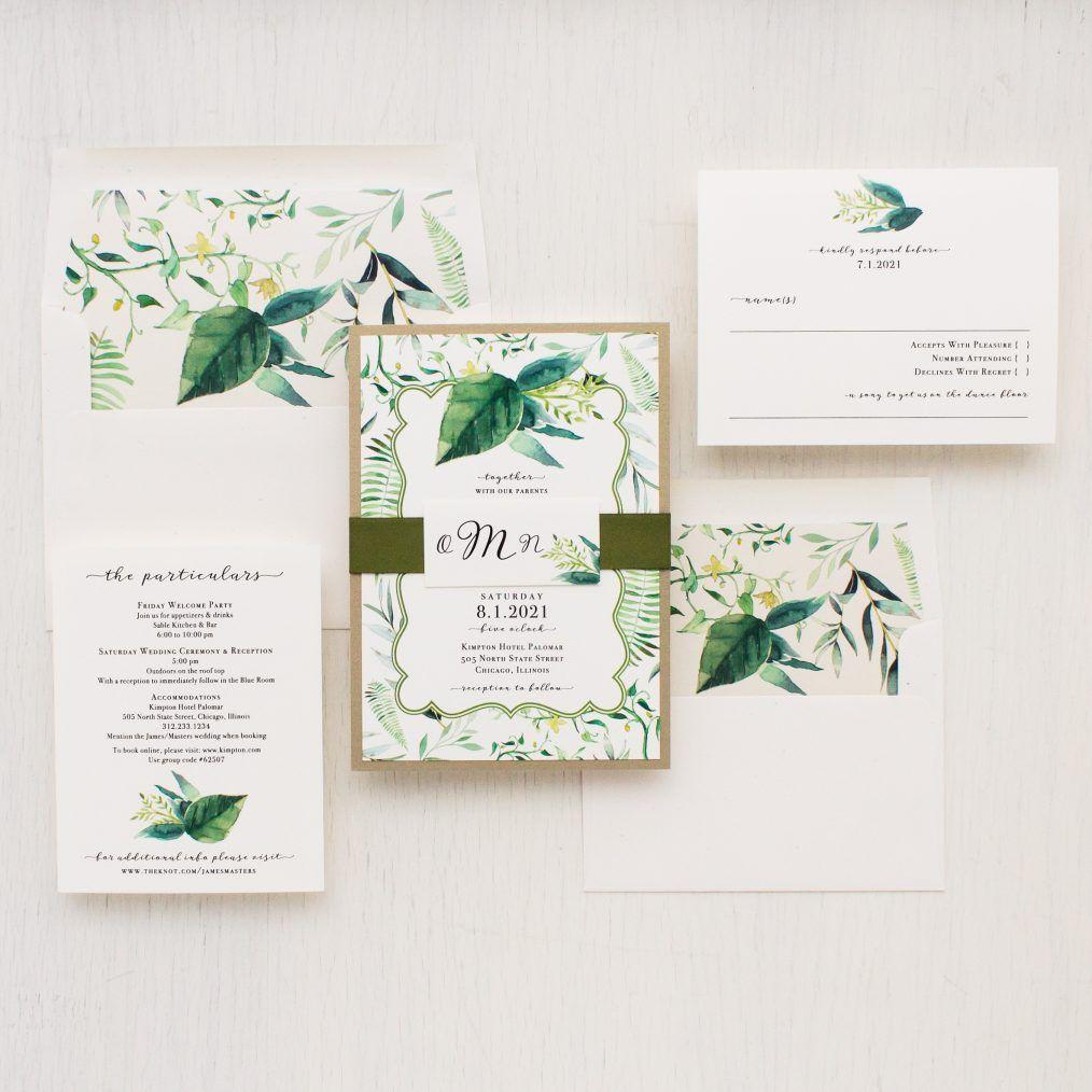 Botanical Garden Wedding Invitations | Wedding Invitations ...