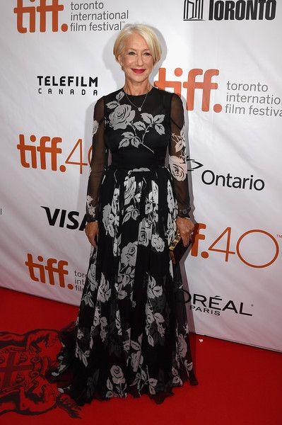 Helen Mirren in Dolce & Gabbana #TorontoFilmFestival 2015 TIFF15