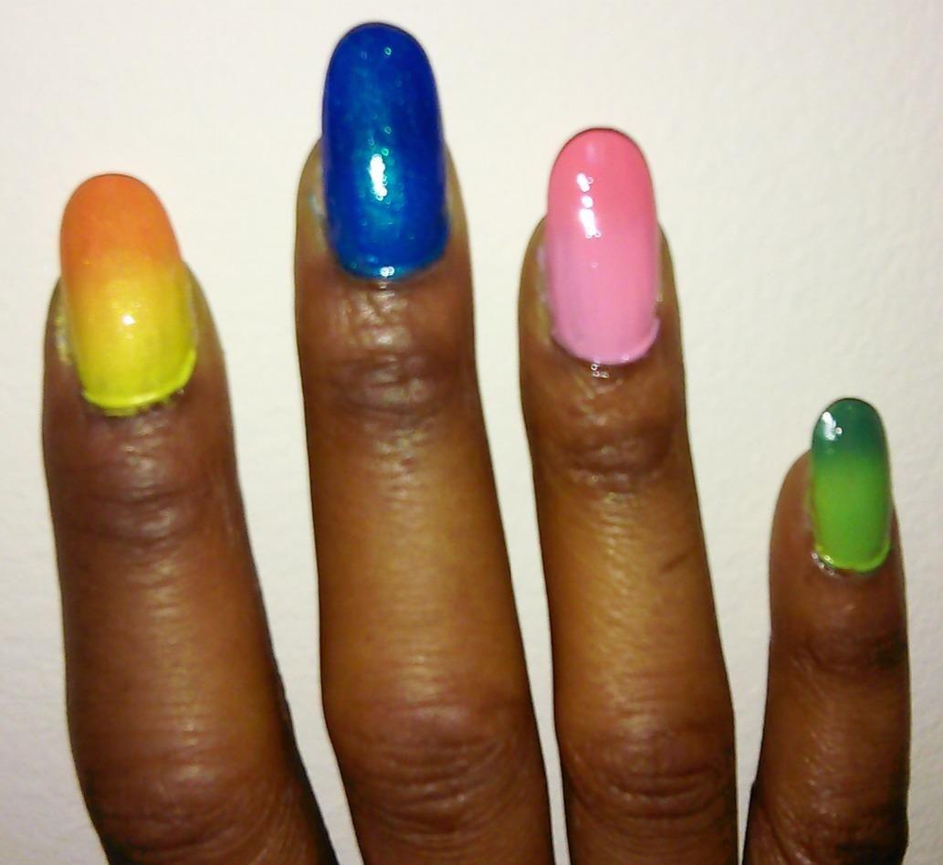 Full color nail art - Winter Nails Mia Secret Mood Nail Lacquer Color Changing Nail Polish 6pc Set 6 Different
