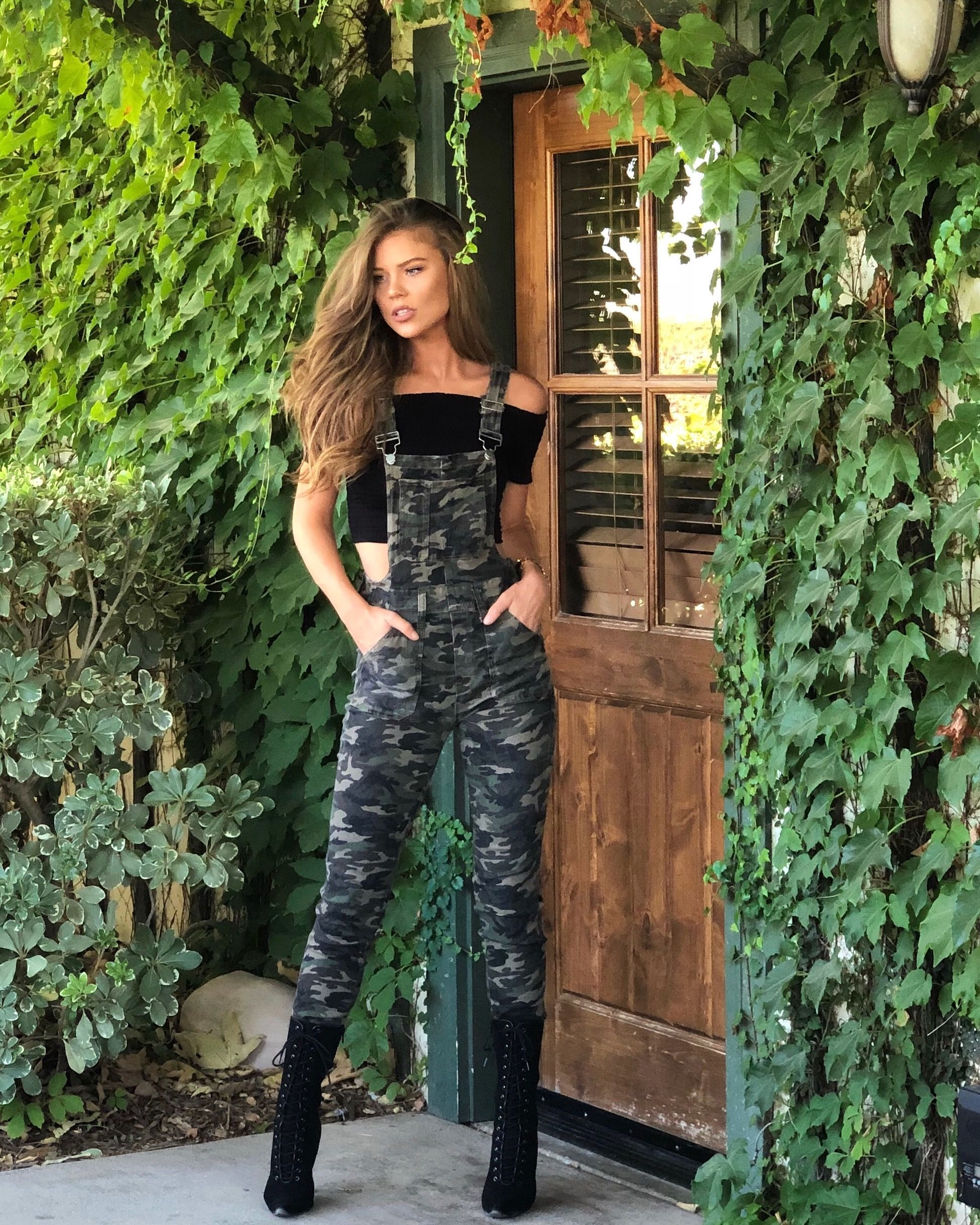 f0b6b77d4dcf5 Fitted Sexy Camo Overalls | RomperJill Overalls in 2019 | Overalls ...
