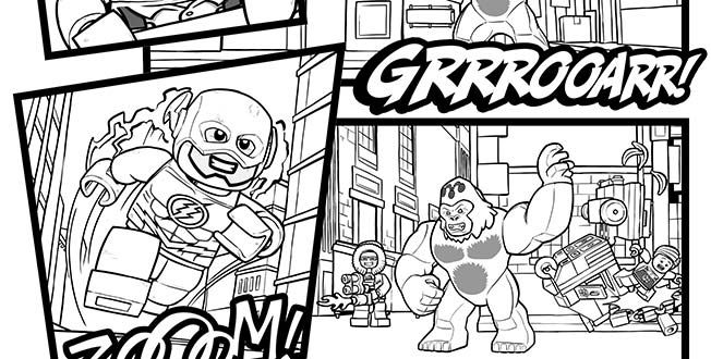 Coloring Pages For 2015 : Lego 2015 justice league 2 coloring sheet. lego® coloring