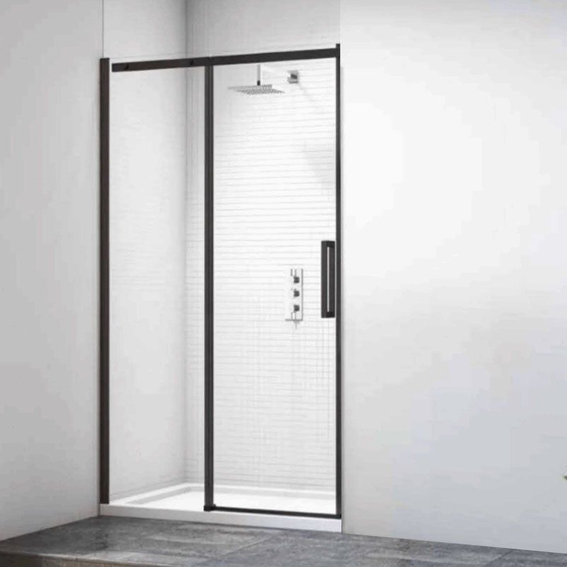 Merlyn Black Sliding Shower Door 1400mm In 2020 Shower Doors Sliding Shower Door Frameless Shower Doors