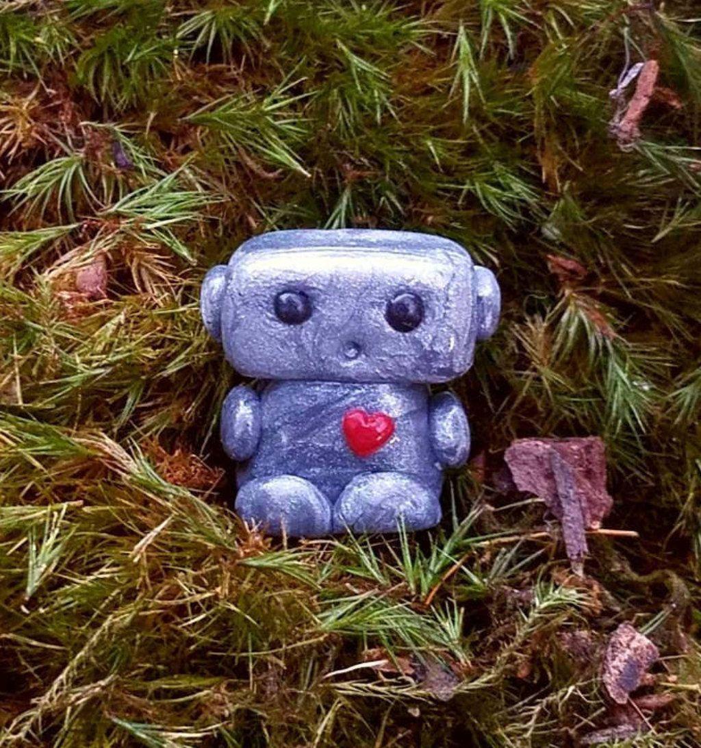 Tiny Robot, Fairy Garden Robot https://etsy.me/2H94Vtz #art ...
