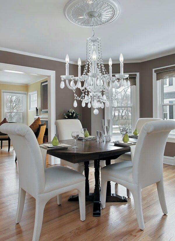 Love Living Room Paint Color U0026 The Color In The Next Room Too. Love The  Chandelier As Well! Part 93