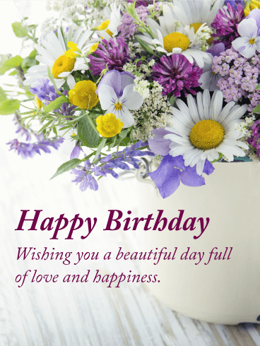 Full Of Love Happy Birthday Card Birthday Greeting Cards By Davia Happy Birthday Flowers Wishes Birthday Wishes Flowers Happy Birthday Wishes Cards