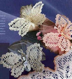 Lindas borboletas de crochê