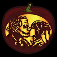 harley quinn and joker pumpkin stencil  Joker and Harley Kiss - Pumpkin Stencil in 7 | Joker ...