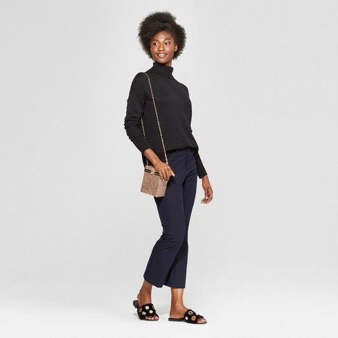 527f9854cce CHRISTMAS 2018 BLACK NOT SURE BUT MAYBE A MEDIUM ASK MOOSH Women s  Turtleneck Sweater - A New Day™   Target