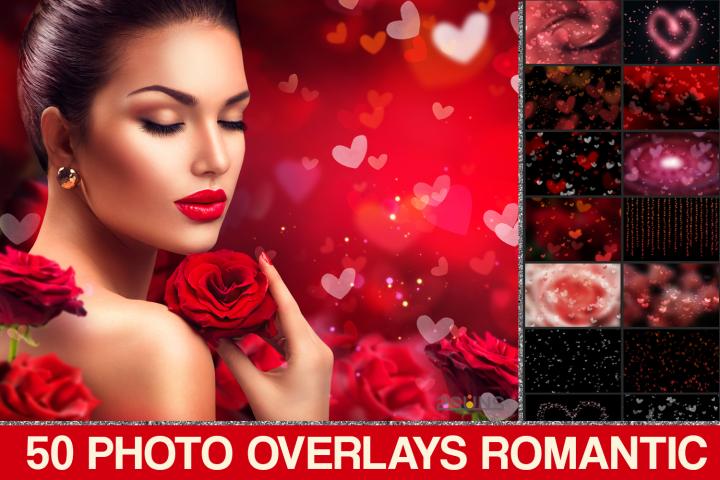 Valentines Bokeh Herz, Romantische Overlays, Photoshop Overlay