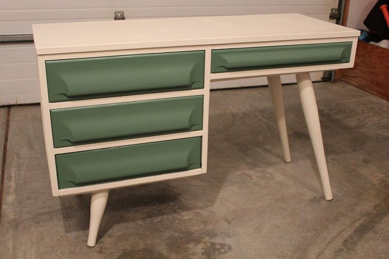 Vintage Mccobb Style Dresser Desk Mid Century Danish Modern Eames Era Saarinen