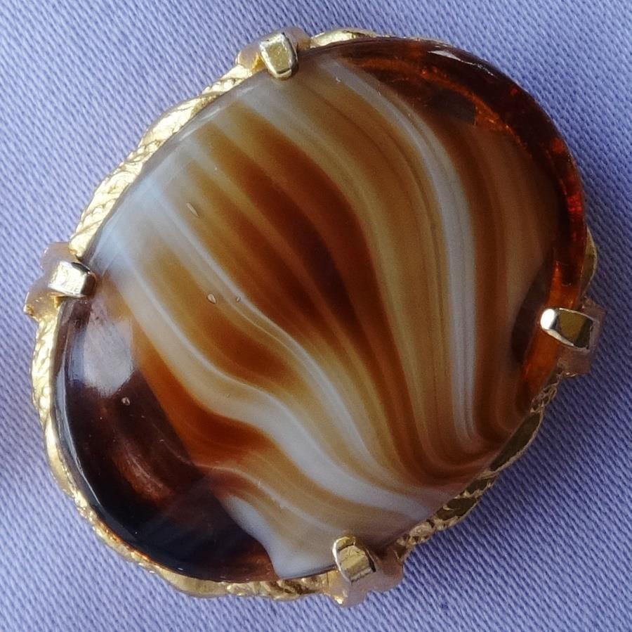 Vintage Amber Agate Glass Stone Oval Brooch In Jewellery U0026 Watches, Vintage  U0026 Antique Jewellery, Vintage Costume Jewellery,