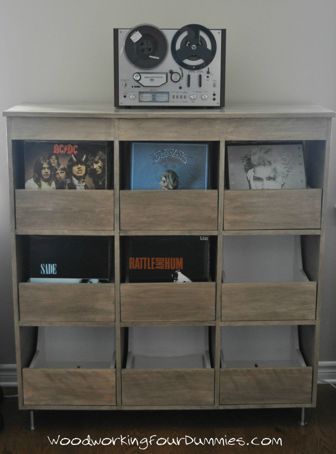 Record Cabinet Detailed Plans In 2019 Vinyl Storage