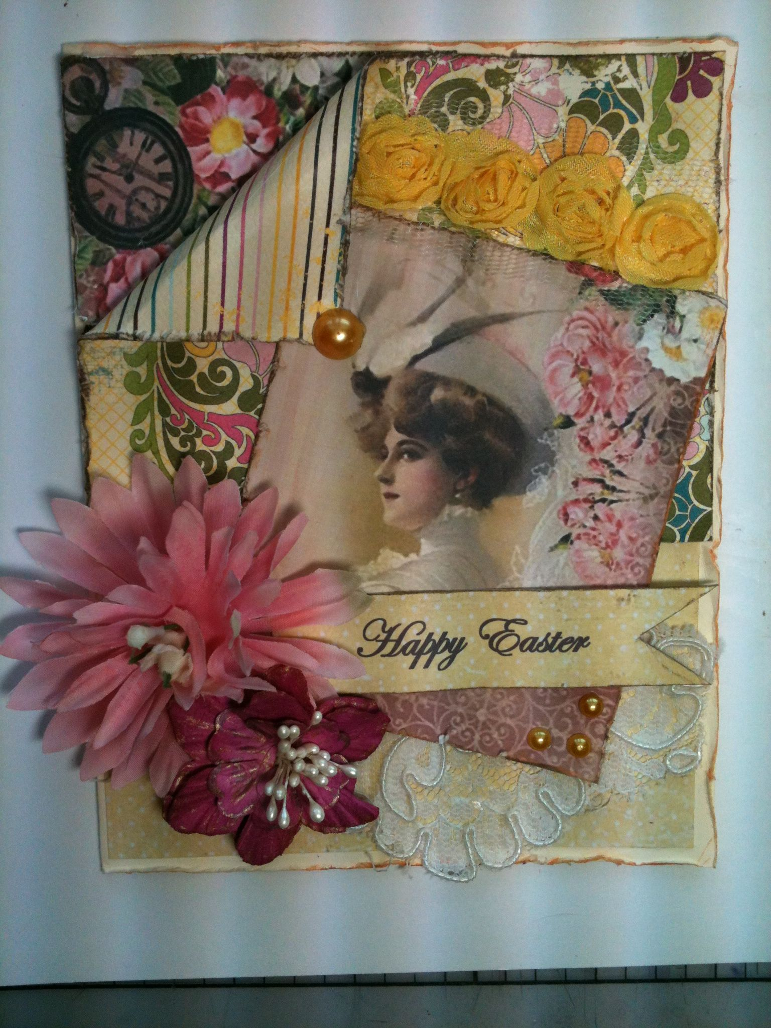 Easter 2013 vintage shabby chic card shabby chic cards