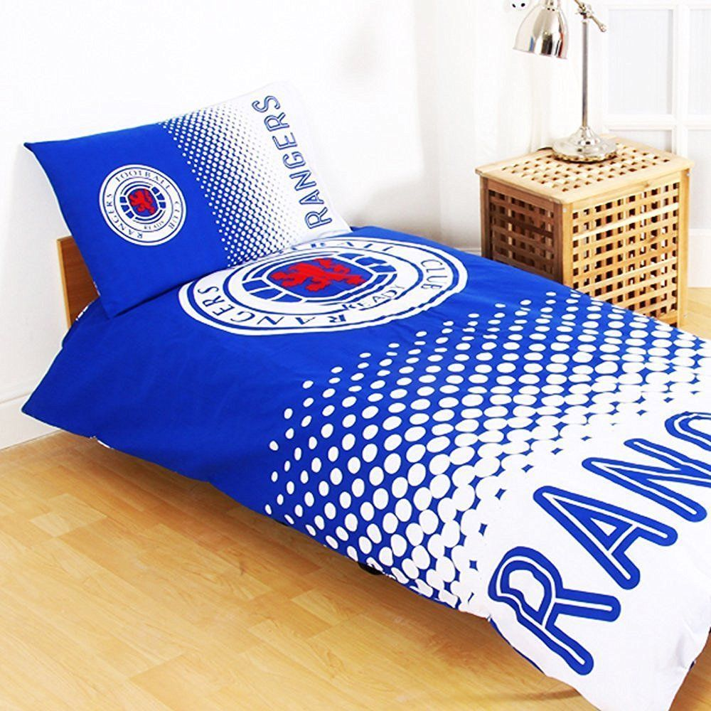 Boys Double Quilt Cover Glasgow Rangers Football Club Single Duvet Quilt Cover Set Boys