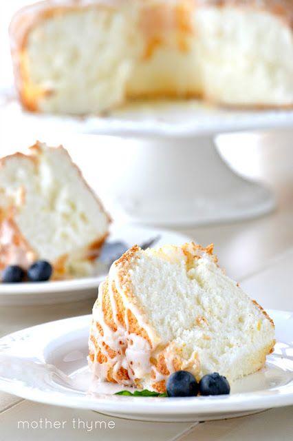 Lemon Angel Food Cake | www.motherthyme.com