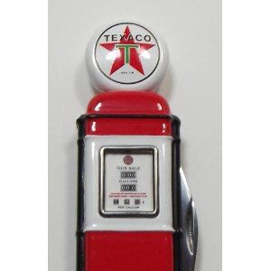 Franklin Mint Texaco Gas Pump Pocket Knife. I would love to get this for Mike, my papa too!