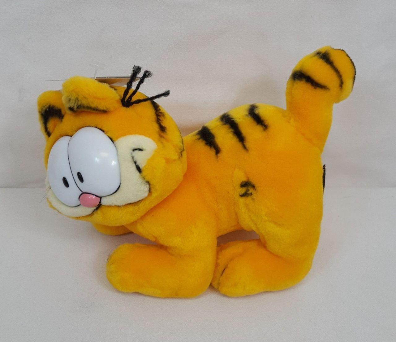 a095f50b12956 RARE Vintage 1978 Fine Toy WANNA PLAY GARFIELD Standing Plush Cat ...