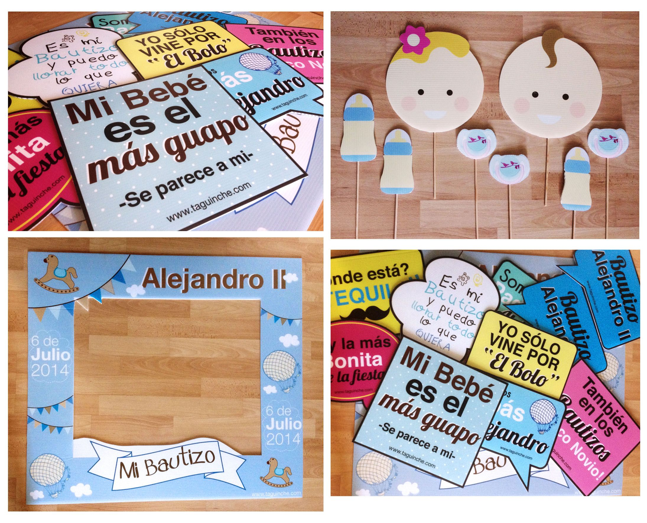 Paquete de letreros Bautizo www.taguinche.com | bautizo | Pinterest ...
