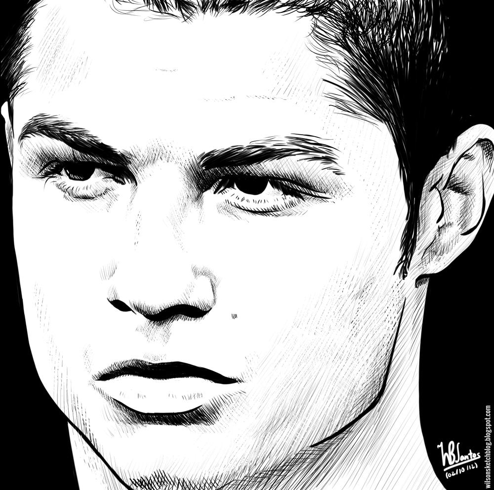 The amazing sketch of ronaldo cr7 ronaldofans welovecr