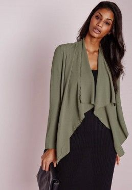 Waterfall Blazer Khaki