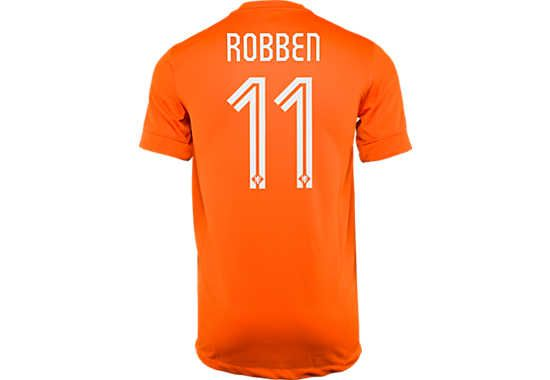 new product 5a991 93e22 Arjen Robben! Nike Robben Netherlands Home Jersey - 2014...at SoccerPro now!