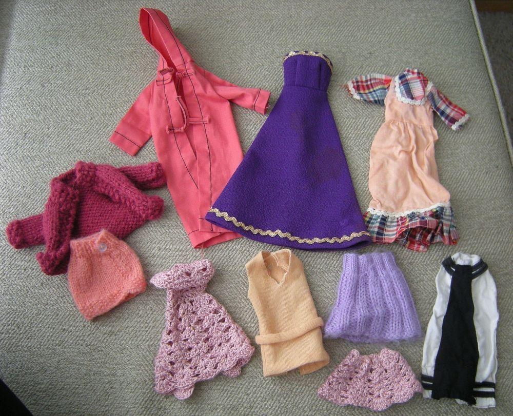 Barbie vintage s s clothes lot long jacket purple gown peasant