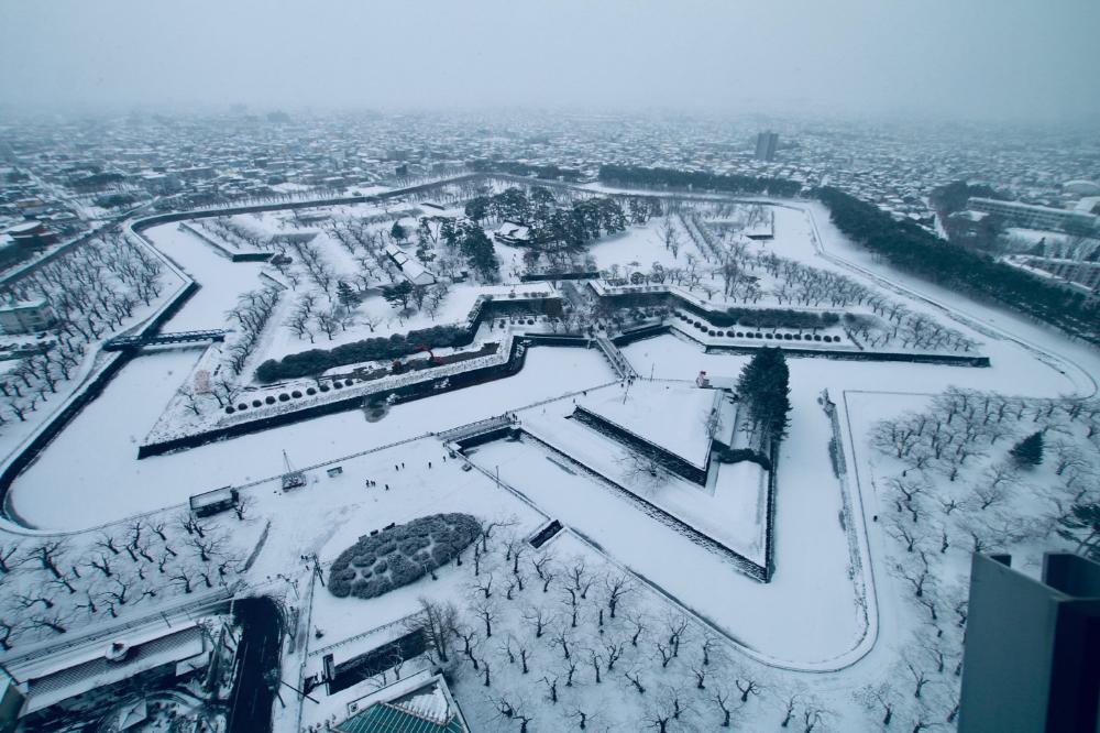 五稜郭「日本100名城に行こう」のスタンプ設置場所は2ヶ所ある   東京散歩ぽ