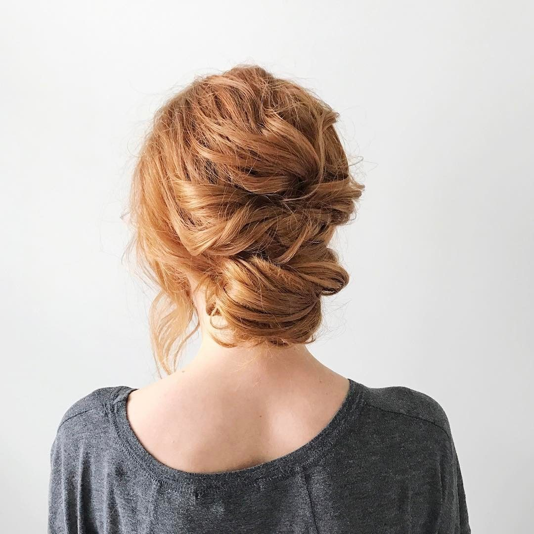 Pretty Textured Messy Updo Wedding Hairstyle Inspiration